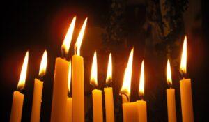 flammes de cierges