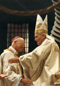 Cardinal Gouyon et Jean Paul II