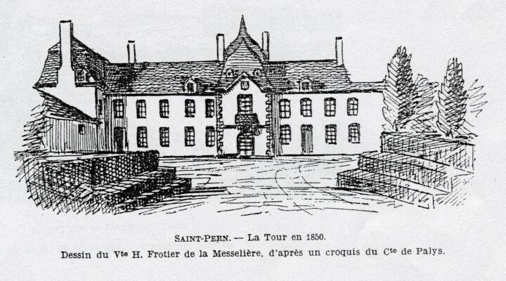 dessin de La Tour St Joseph en 1850
