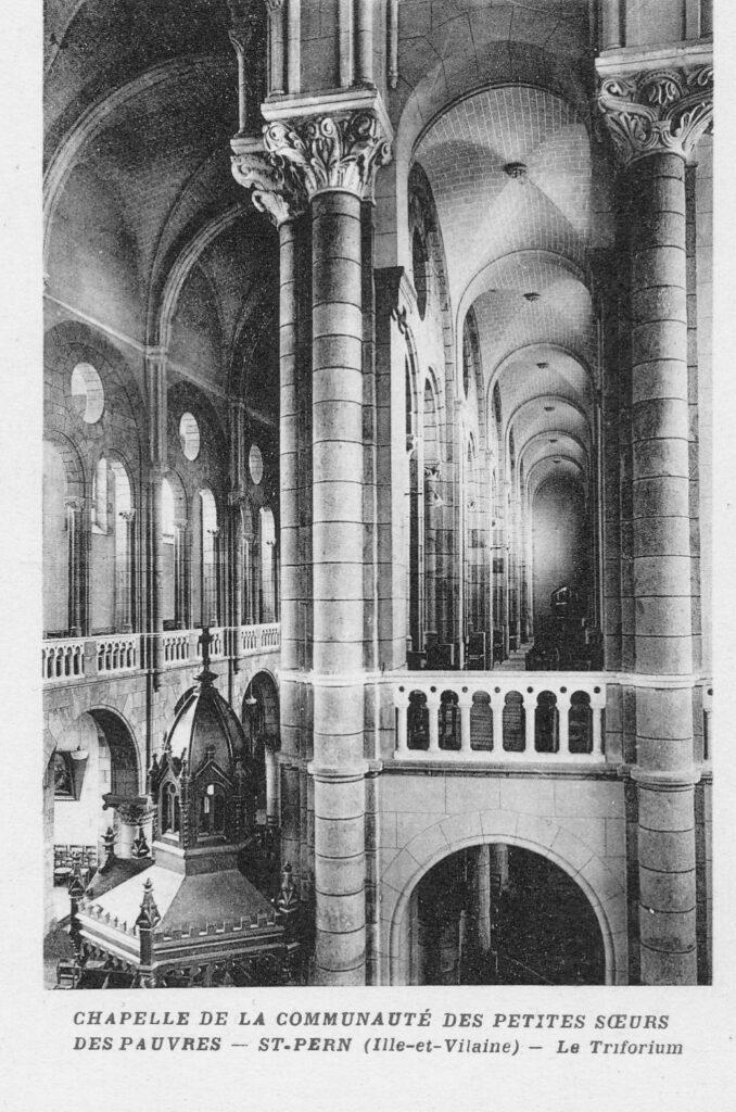 Chapelle -Le triforium (1937)