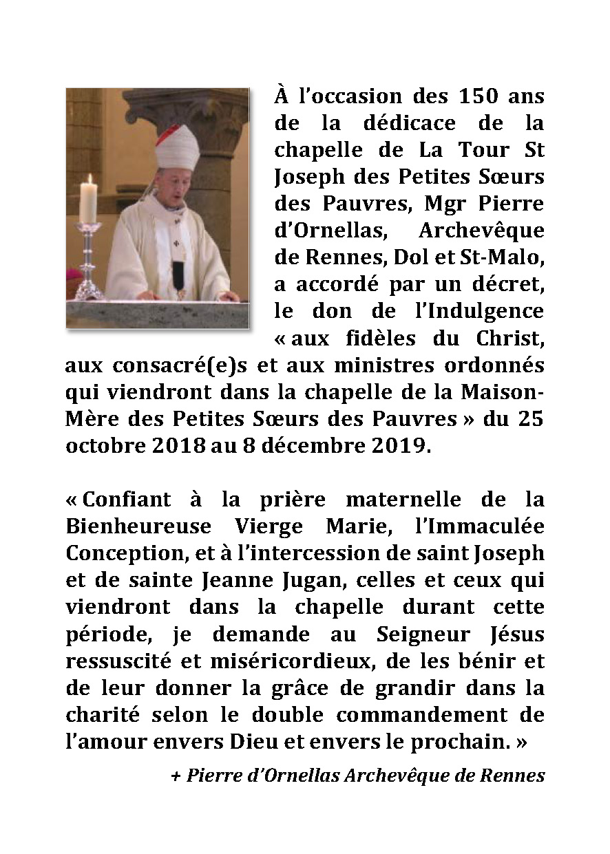 Message du Mgr d'Ornellas