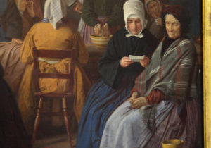 Salle des dames par James Collinson 1866-1867, détail