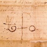 parchemin avec la signature de St Jean de Dieu